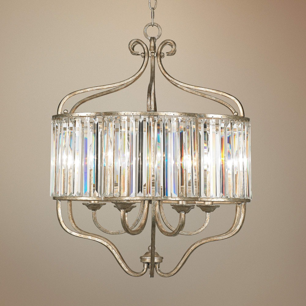 11.20-4 Featuring a transitional design Illuminate your decor Soft Silver 6-Light Crystal Pendant Light