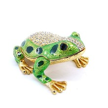 cheap Frog with crown,Modern metal ornaments,Enamel frog