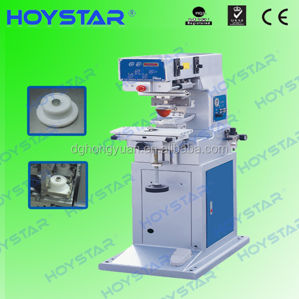 Vertical 1 color garment label pad printing machine with ink cup