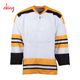 Cheap practice custom high quality beer league hockey jerseys 100% Polyester Sublimation reversible goalie hockey