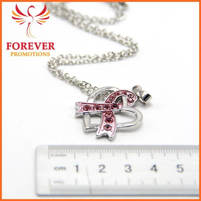 Hot Selling Customized Necklace Pendant Pink Ribbon Pendant