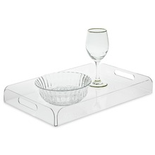 Wholesale Clear Acrylic Tray, Plastic Serving Tray, Plexiglass Bottle Cup Holder Tray
