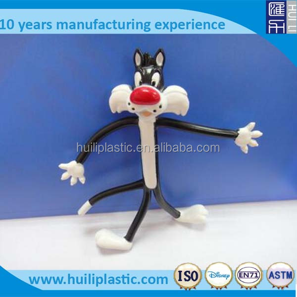 Custom bendable plastic toy,OEM metal wire bendable plastic toy,OEM plastic bendable toy figures
