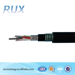 direct burial single mode armored fiber optic cable GYTA53