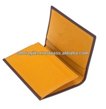 real yellow leather name card holders / novelty business card holders / nice credit card holder cases