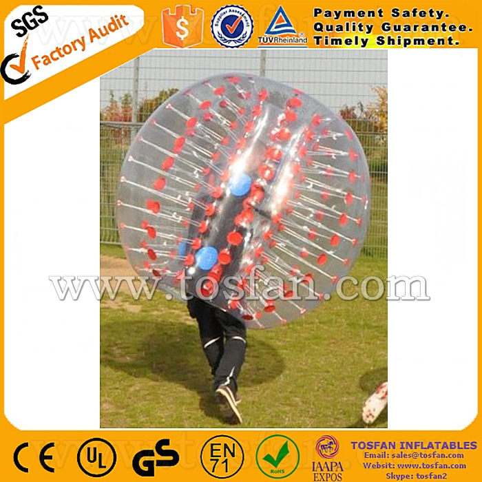 CE standard 1.0mm TPU/PVC inflatable human soccer bubble balls for sale TB193