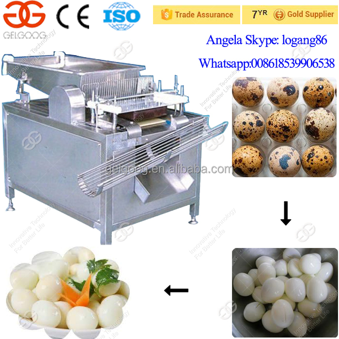 Automatic Quail Egg Peeling Machine| Boiled Quail Egg Peeler