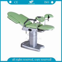 AG-S102B best selling rubber frame adjustable surgical table gynecology beds