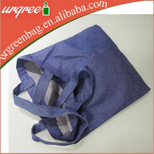Wholesale Blank Custom Blue Denim Canvas Tote Bag