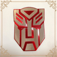 Red Transformers Autobot Logo Emblem Badge Decal Car