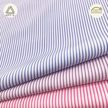 Bamboo and Polyester yarn dyed shirt clothing fabric stripes dobby wrinkle free Anti-UV quick dry stock lot for sale
