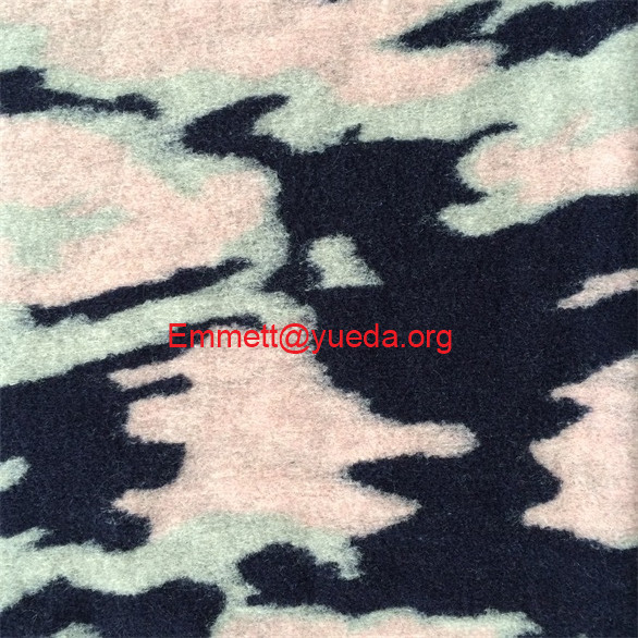 navy lake blue light pink camouflage pattern real wool high quality woolen fabric for fashion coats