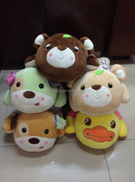 Custom ,wholesale New Design Bear plush stuffed 8 styles animal toys:tiger,leopard,bear,dog,frog,duck,cattle,giraffe.