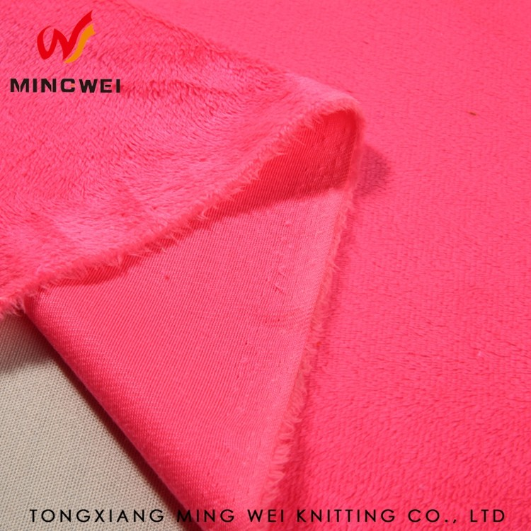 100%polyester waterproof velour fabric for motorcycle gloves