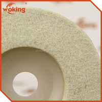 Factory 100% Wool Felt Polishing Wheel Wool Felt Polishing Wheel For Glass Custom Size Wool Felt Polishing Wheel