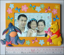 New design custom 3d soft pvc photo picture frame
