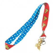 Wonder Woman Lanyard Keychain Red