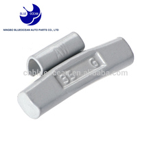 Low cost high quality iron stick on balance wheel weights clip-on adhesive wheel weights