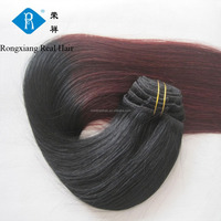 Wholesale 100% human remy double drawn kinky hair clip on extensions