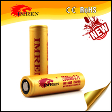 Factory price IMREN 2500mah 40A 3.7V 18650 rechargeable li-ion battery for motor