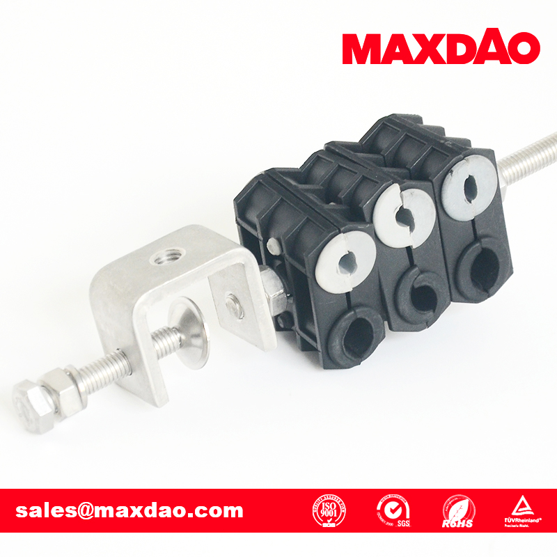 fiber optic power coaxial cable cast iron pipe clamp