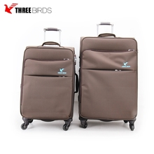 China factory nylon luggage sets lightweight spinner soft trolley luggage
