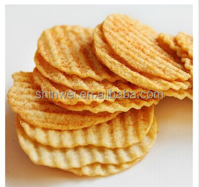 Health food low fat baking potato chips production line forming and baking