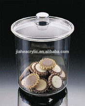 factory direct sell plexiglass high end clear plastic cookie jar for sale