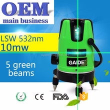 Rotary laser level 5 green beam with tripod 360 multi line price