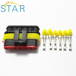 wholesale 6 pin tyco amp auto female connector