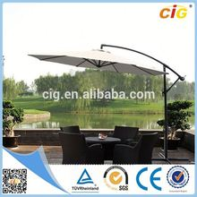 Newest Design HOT Selling tulip parasol lighted patio umbrella solar