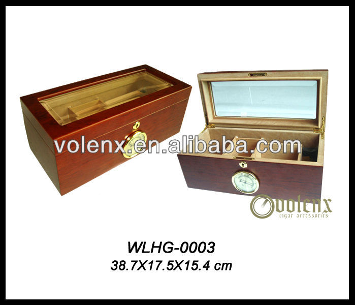 Shenzhen top glass smokeless cigars unfinished wooden cigar box