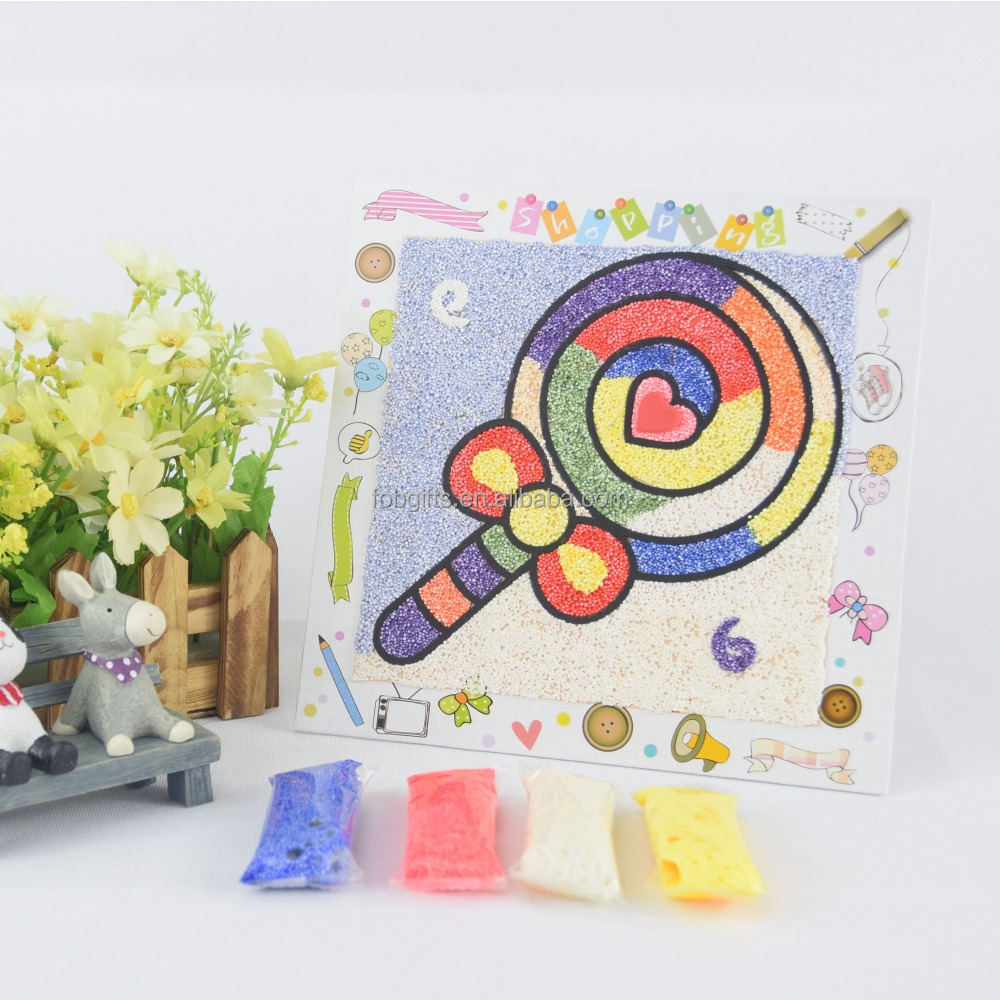 2015 wholesale cheap eco friendly puzzle set draw paint educational toy/fancy kid toy/kid diy toy