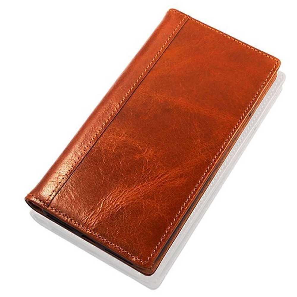 C& Handmade Built-in Stand Card Slots Holder Leather Flip Wallet Case For Samsung galaxy s8