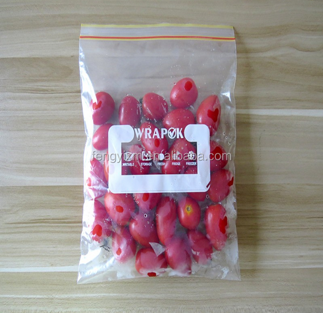 Custom printed airtight ldpe plastic zip lock bag