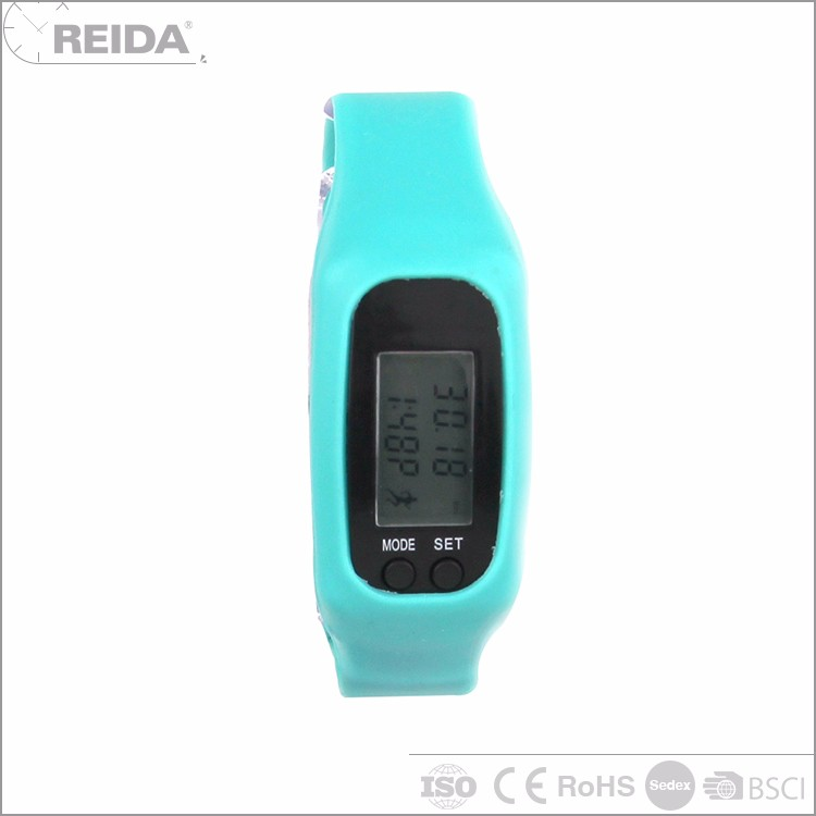 Custom high quality blue silicone sport cuff plastic digital watch