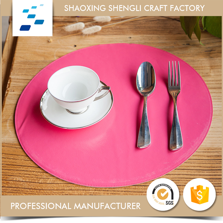 Popular Good Quality Embossed vinyl placemats for restaurants