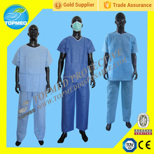 Disposable PP or SMS nonwoven isolation gown, disposable medical patient gown for children