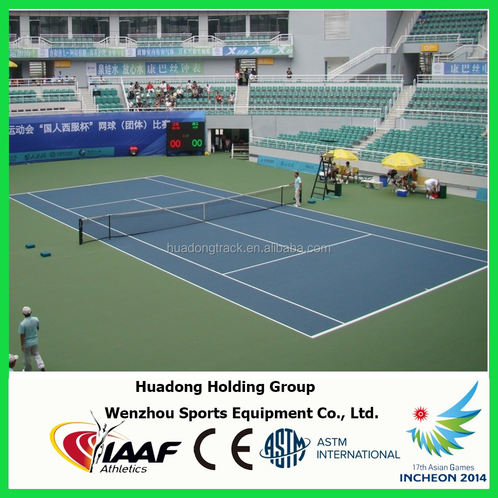 Rubber mat flooring for badminton, basketball, volleyball, tennis court mat