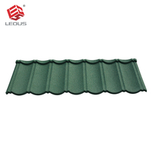 Colorful sand stone coated aluminum steel zinc roofing tile