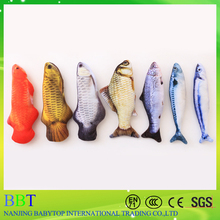 Wholesale cute plush pet chew toy fish pet cat toy