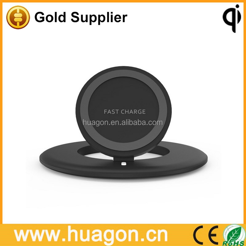 Double Circular Stepless Qi Wireless Charging Transmitter Fast Charge Qi Wireless Charging Pad for Qi Enabled Devices Galaxy 8