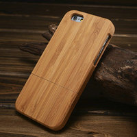 Hot Sell High Quality Wood Back Case for iphone 6, Phone case for iphone 6