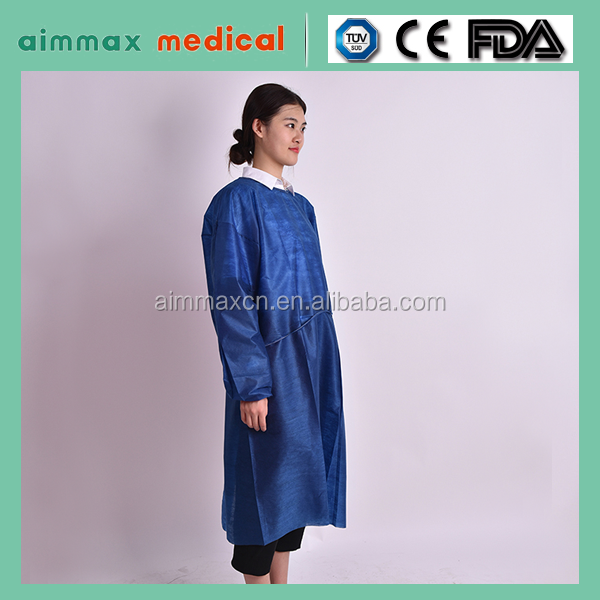 medical health non woven protective clothing surgical gown/100% cotton doctor's medical scrub gown