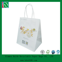 2014 kraft paper custom made bag for fast food
