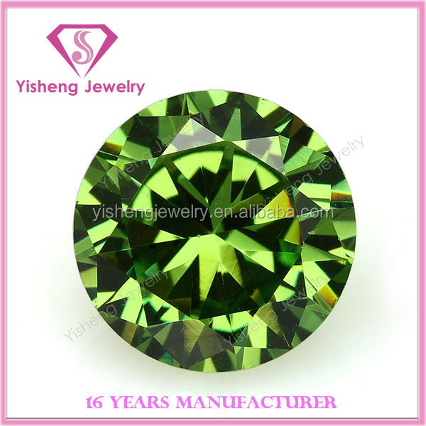 Round Cut Green Loose Nano Crystal Gemstone Cubic Zirconia for Fashion Jewelry Sets