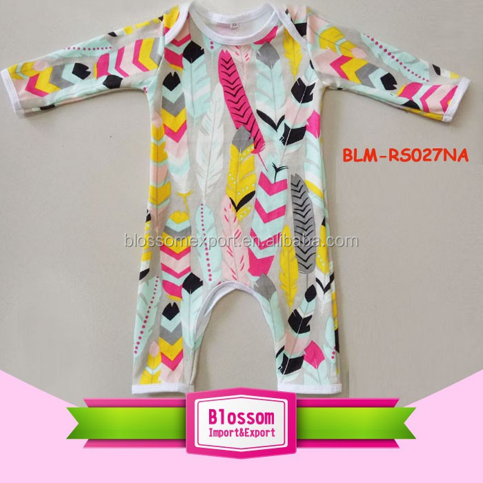 Baby clothes clothing yiwu wholesale plain camo pattern overlap infant bodysuit long sleeve girl harem onesie crotch rompers