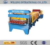 color steel galvanized metal aluminum glazed trapezoidal sheet roof tile wall panel double layer roll forming machine