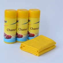 yellow plastic tube packed spotless car wash pva chamois towel