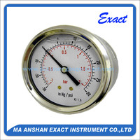 Back Connection Compound Oil Pressure Gauge Manufacturer